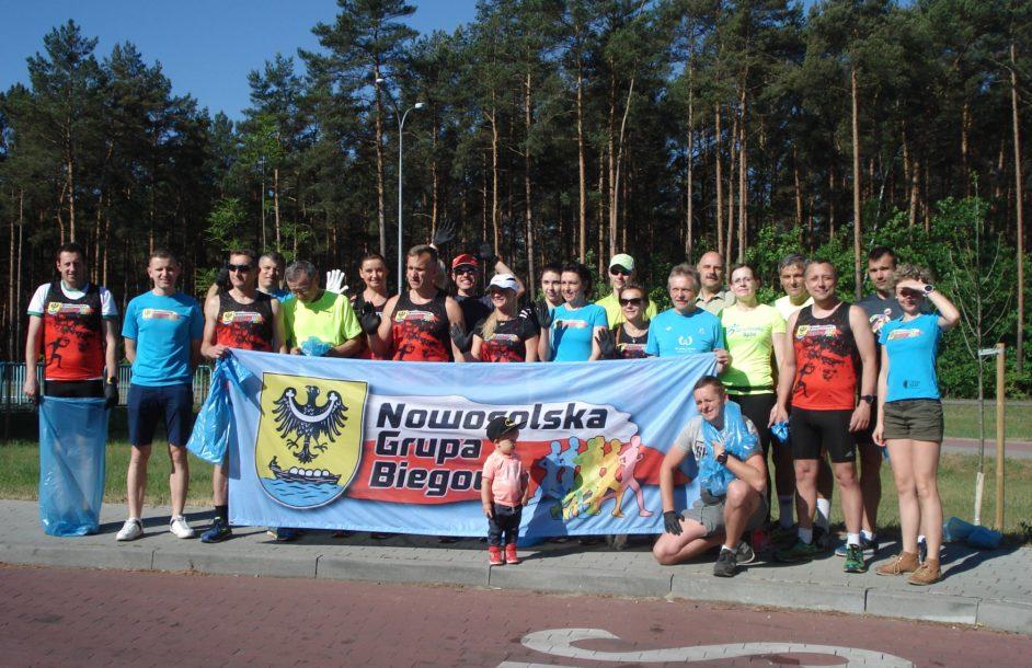 """Pierwszy """"plogging"""" z Nowosolską Grupą Biegową"""