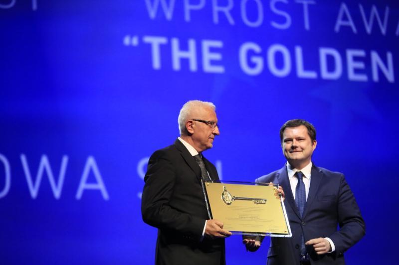 Wadim Tyszkiewicz ze Złotym Kluczem Wprost