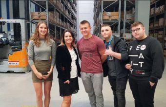 Wizyta uczniów z ZSP nr 4 w firmie NORD Napędy