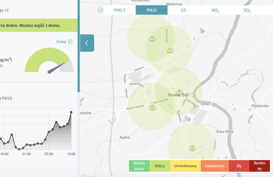 Sprawdź jakość powietrza w Nowej Soli!