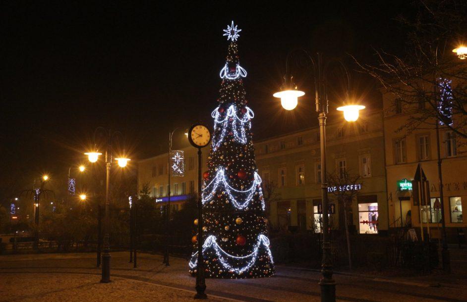 Rozświetlona świątecznie Nowa Sól