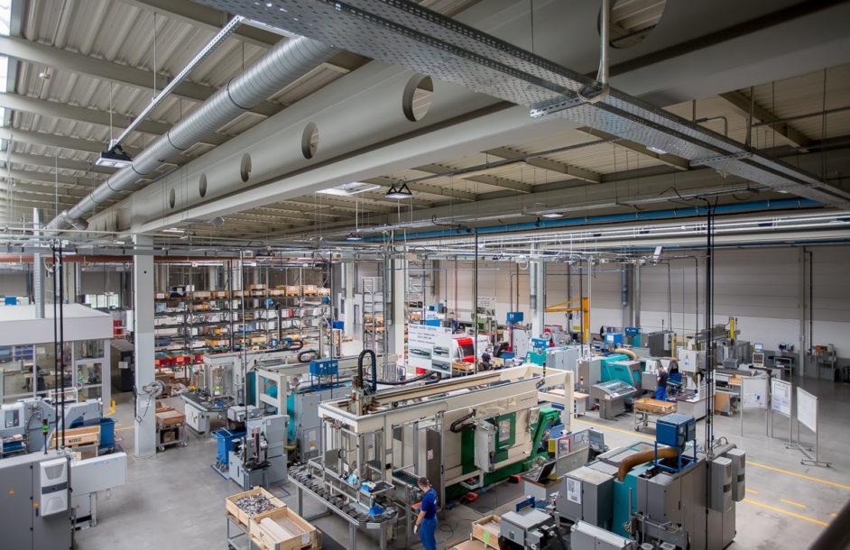 Prace przy budowie nowej fabryki NORD na półmetku
