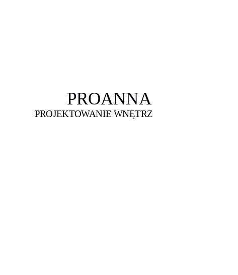 Projektowanie Wnętrz ProAnna