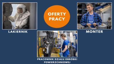 Pracownik produkcji – monter, lakiernik, pracownik działu obróbki powierzchniowej